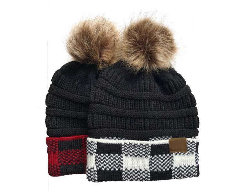 Buffalo Plaid Trimmed Hat