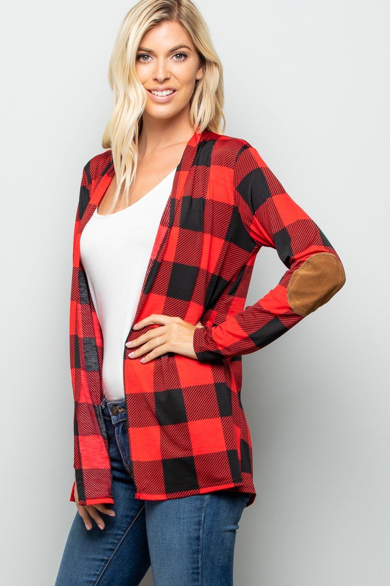 The Colby - Women's Plus Size Cardigan with Elbow Patches