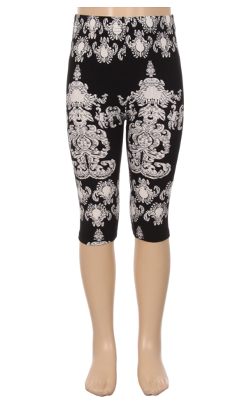 Damask - Girls Capris