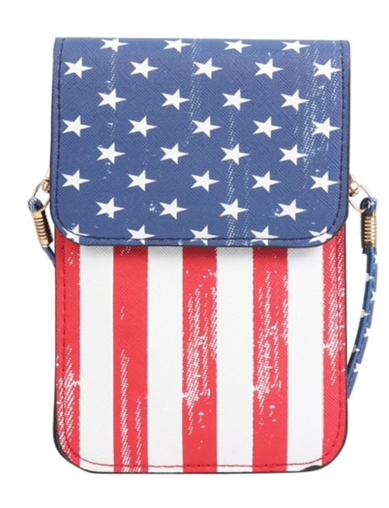 American Flag Cellphone Crossbody Bag