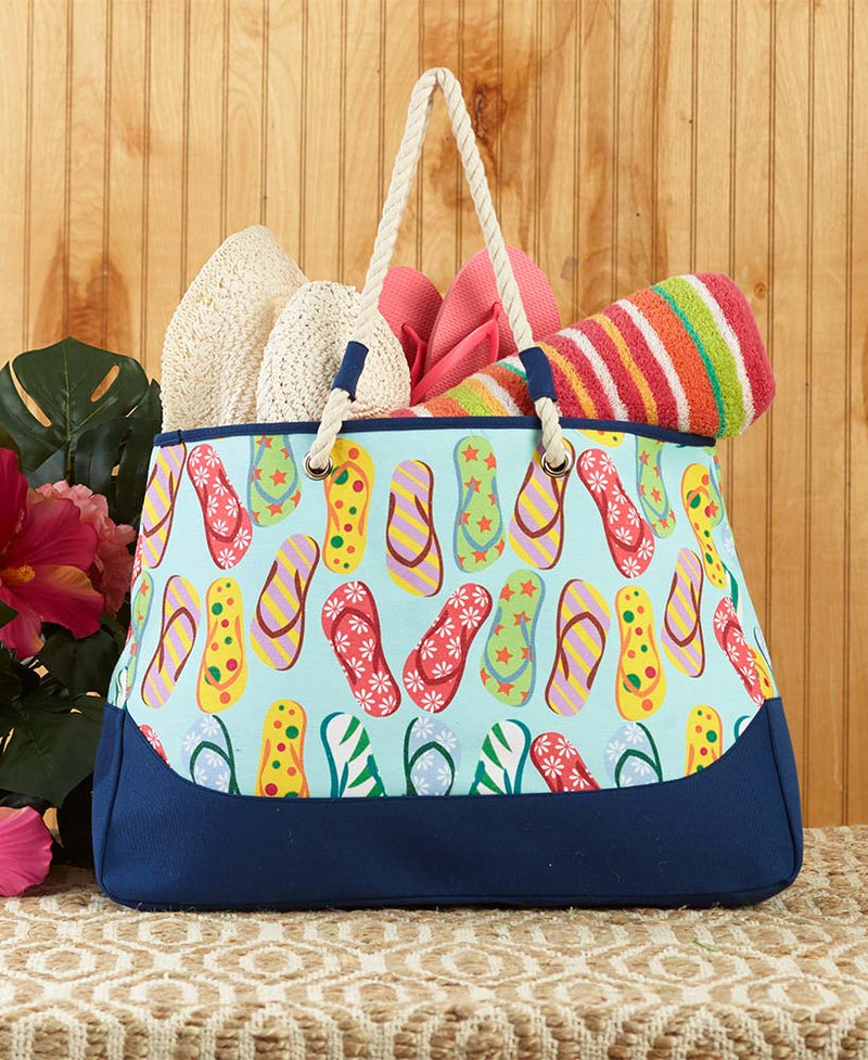 Flip Flop Beach Tote Bag
