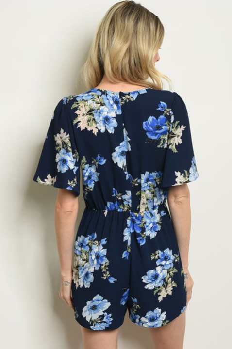 The Ashley - Women's Floral Romper