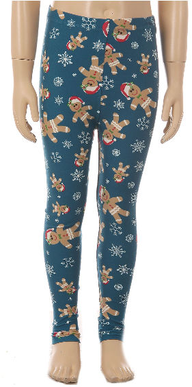 Gingerbread Santa - Girls  Leggings