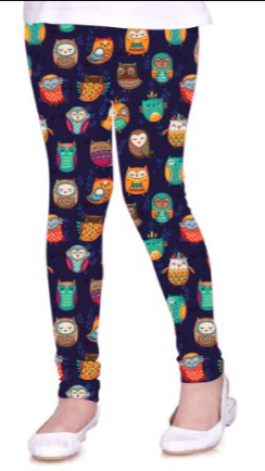 Sleepyhead Owls - Girls Leggings