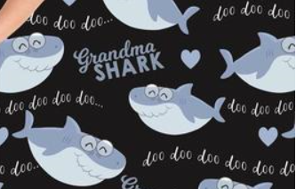 Grandma Shark  - Women's Plus Size Leggings