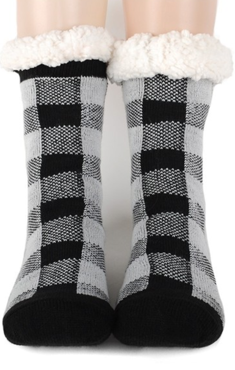 Buffalo Plaid Slipper Socks
