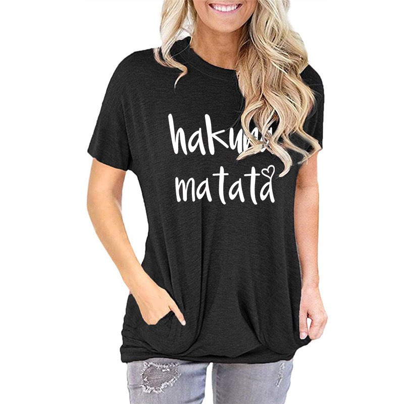 Hakuna Matata - Women's Short Sleeve Top in Black