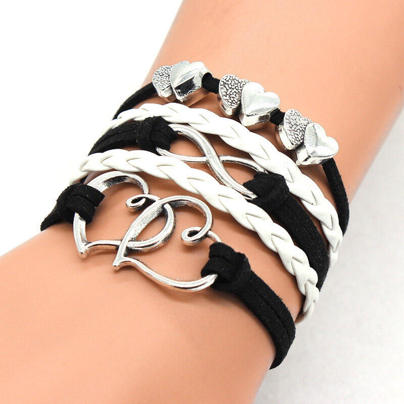 Heart Rope Chain Layered Bracelet