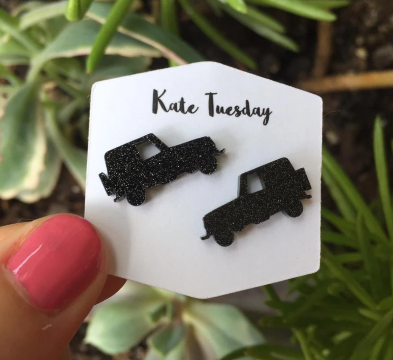 Acrylic Jeep Stud Earrings