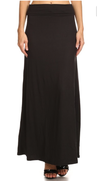 Women's Black Maxi Skirt - Apple Girl Boutique