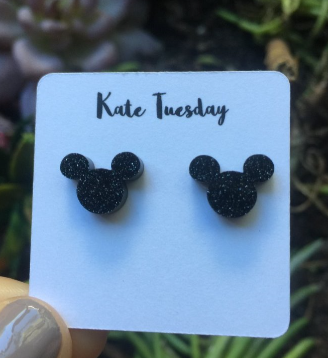 Mickey Mouse Head Stud Earrings