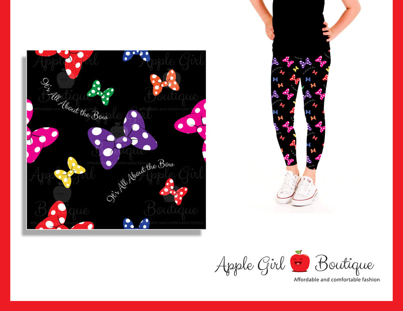 It's All About the Bow Leggings- Girls