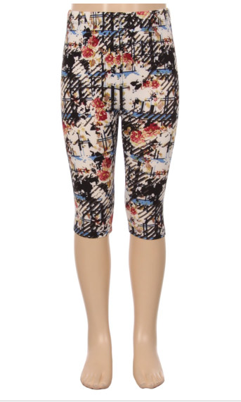 Girls Capri Leggings - Apple Girl Boutique