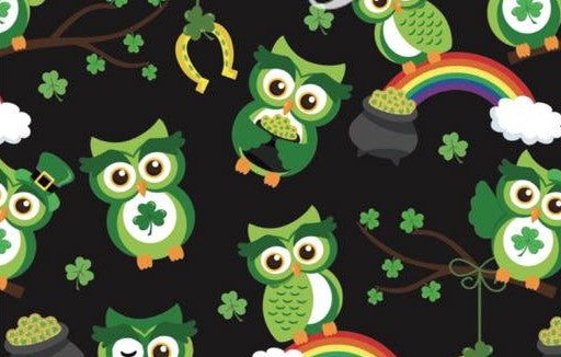 Leprechaun Owls - Girls Leggings