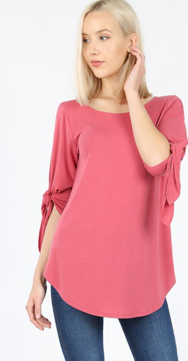 The Paula - Women's Plus Size Top in Rose