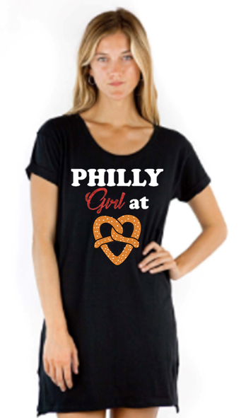 Philly Girl at Heart Pretzel Women's Top