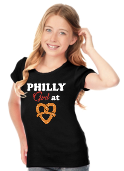 Girls Philadelphia Themed Top - Apple Girl Boutique