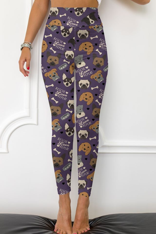 Rescue Dogs - Women's Extra Plus TC Size Leggings