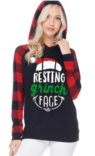 Resting Grinch Face - Women's Hoodie