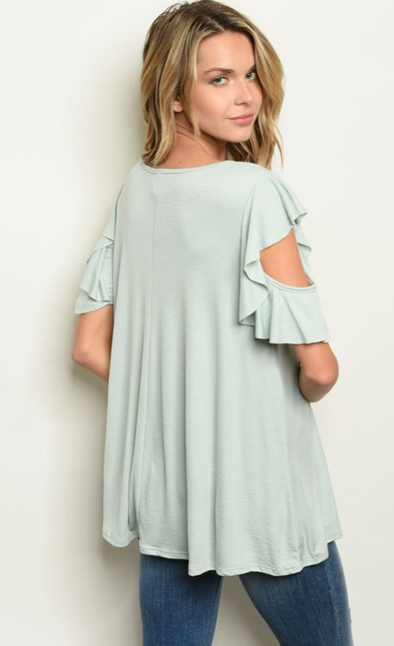 The Sabrina - Women's Top in Sage