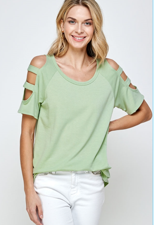 The Sara - Women's Plus Size Top in Sage