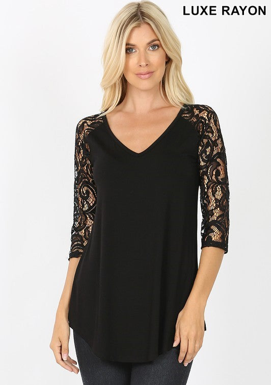 The Scarlett  - Women's Top in Black