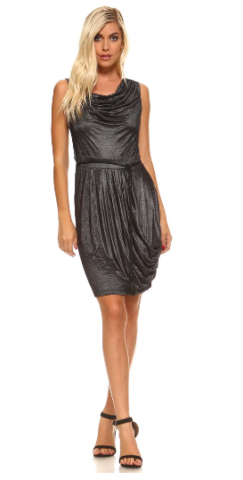 The Skylar - Women's Cowl Neck Dress