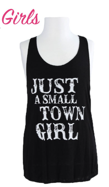 Girls Just A Small Town Girl Tank Top - Apple Girl Boutique