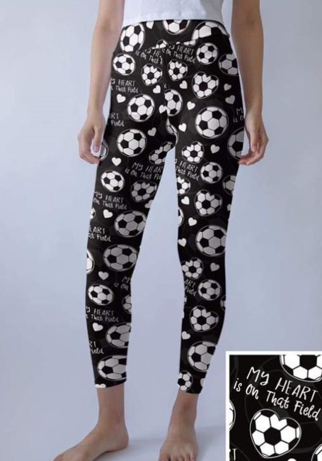 Soccer Love - Women's Plus TC Size Leggings