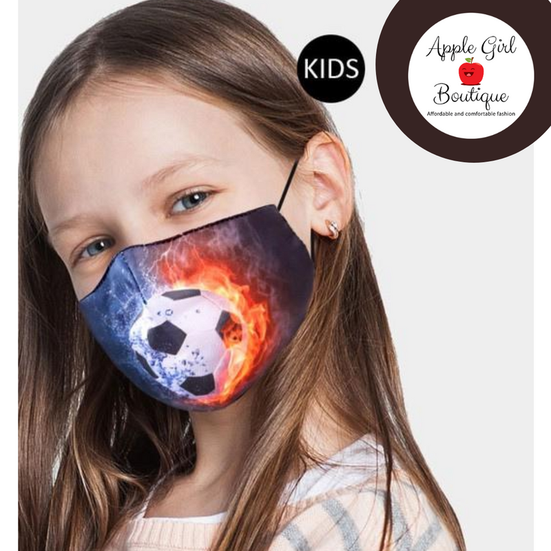 Soccer Themed Face Mask for Kids