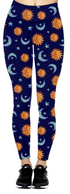 Celestial Sun & Moon - Women's Leggings
