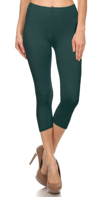 Solid Teal Capris - Women's One Size
