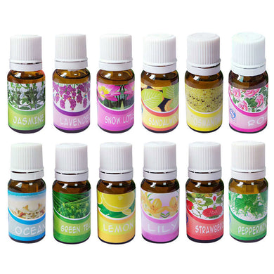 Brand New Water-soluble Oil Essential Oils(10 ml) for Aromatherapy Lavender Oil Humidifier Oil with 12 Kinds of Fragrance sandalwood