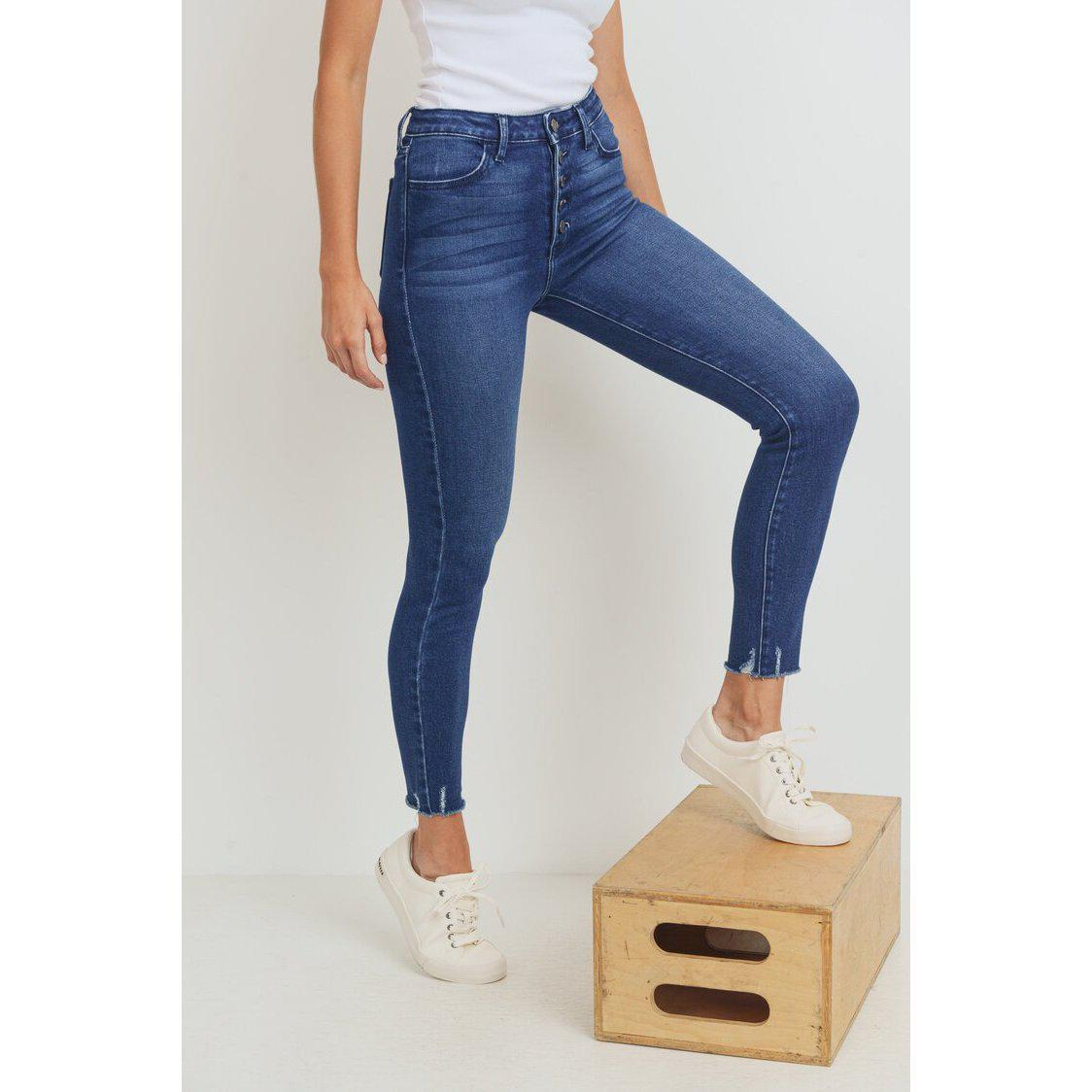 The Apple Picking Skinny-Jeans-Just Black Denim-Zingy Boutique