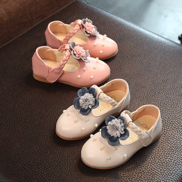 Fashion Baby shoes Sneaker Pearl Toddler shoes Children Floral Pricness Casual Single Shoes kids new year gifts