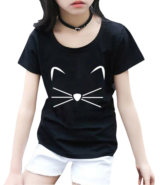 KITTY KITTEN Meow Print kids T shirt Cotton Casual Funny Shirt For girls tops tee hipster streetwear short sleeve casual t-shirt