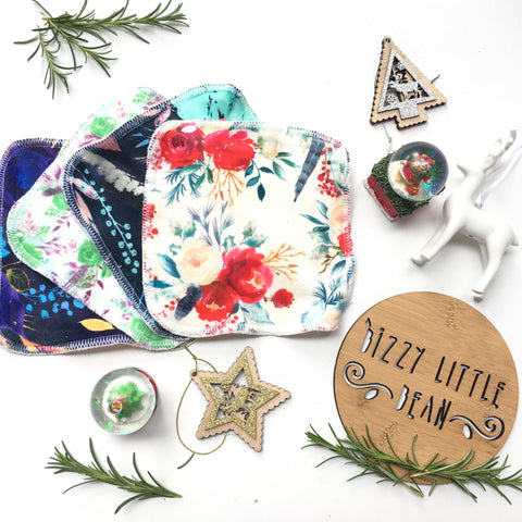 Cloth Wipes - Christmas Floral
