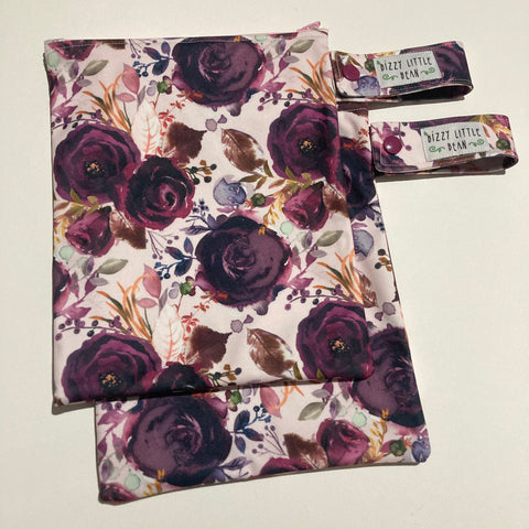 Wine Floral Small Wetbag