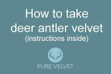 Deer Antler Velvet Dosage Instructions