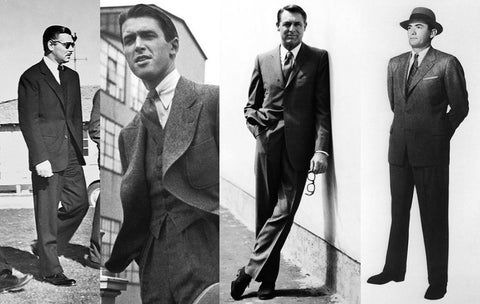 Clark Gable, Jimmy Stewart, Cary Grant, Gregory Peck dress styles