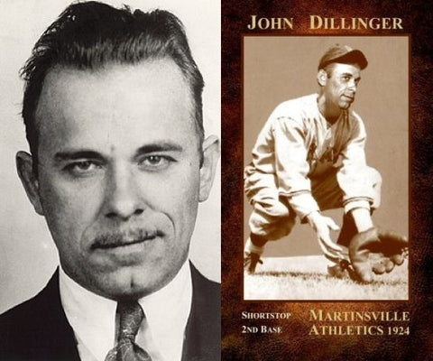 Depression Era gangster John Dillinger (best known for holding up 24 banks, robbing 4 police stations