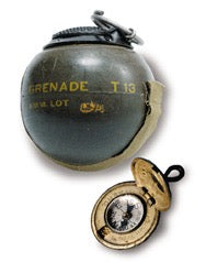 WWII, the U.S. military designed an experimental hand grenade to be roughly the size, weight, and shape of a baseball