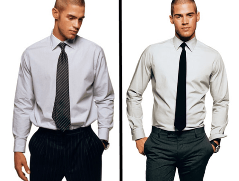 baggy un-tailored suite vs tailored form fitting suit