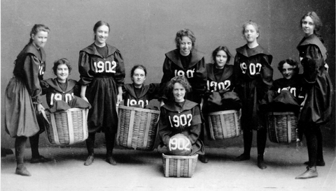 Smith College in 1892 Women's Basketball Team