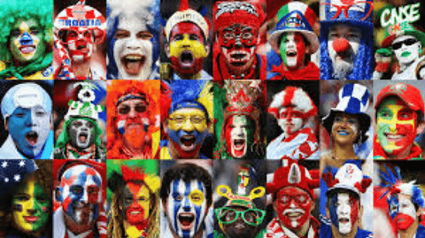 the many faces of soccer football fans