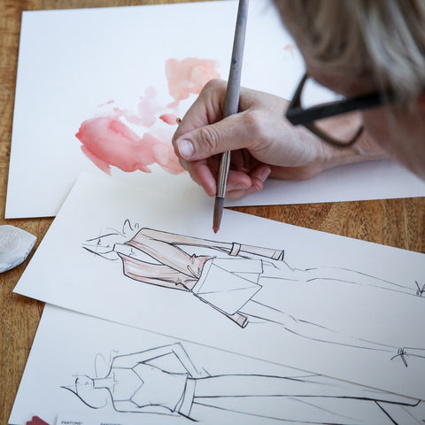 Hillary Glenn fashion design sketching