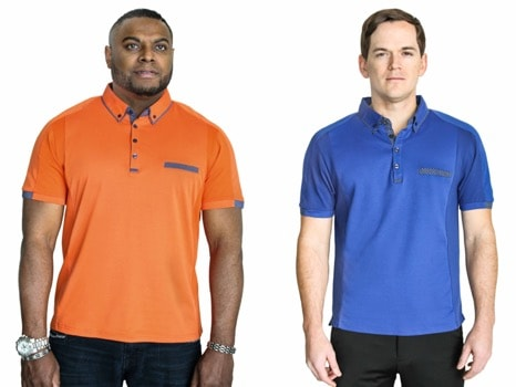 otero menswear polo shirts by Hillary Glen - clothes for short men