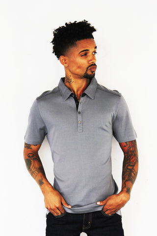 slim fit polo from otero menswear for the holidays