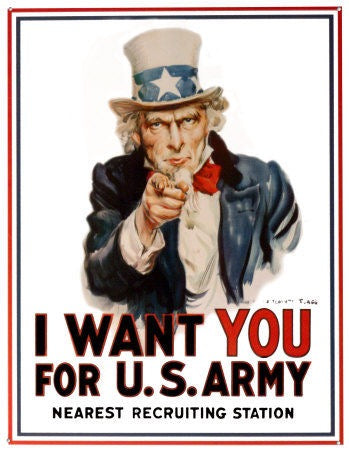 "us propaganda ""we want you"" join the army"