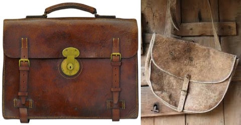 Industrial discoveries in the 19th and 20th leather manbag
